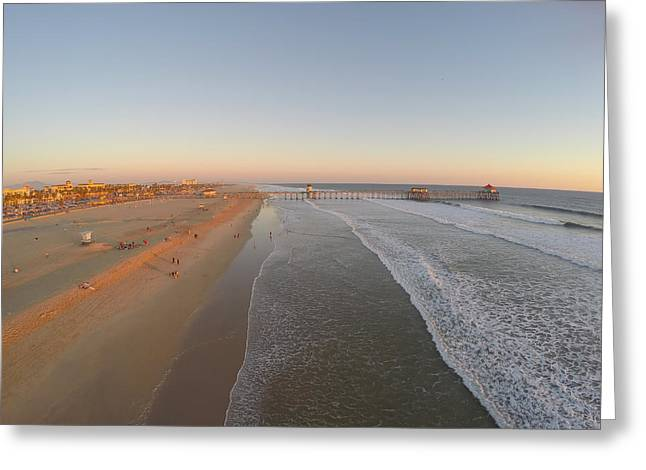 Recently Sold -  - Pch Greeting Cards - Huntington Beach California Greeting Card by Creative Dog Media