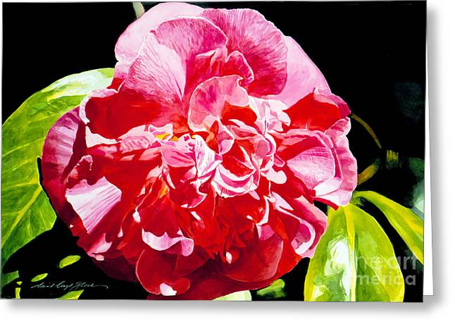 Most Greeting Cards - Huntington Camelia Greeting Card by David Lloyd Glover