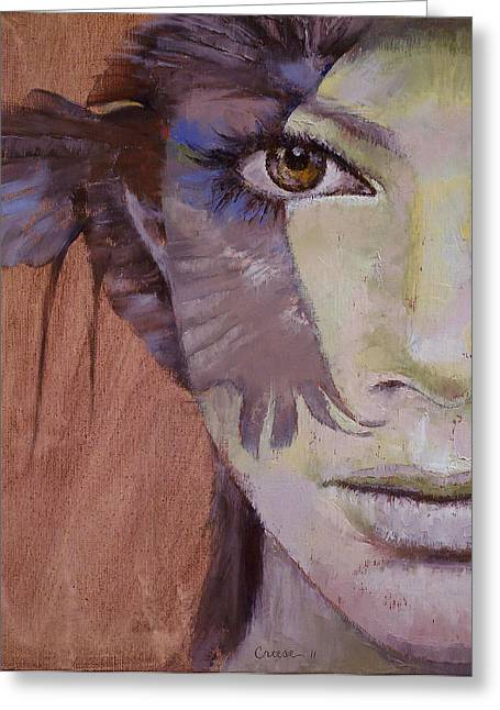 Native American Woman Greeting Cards - Huntress Greeting Card by Michael Creese