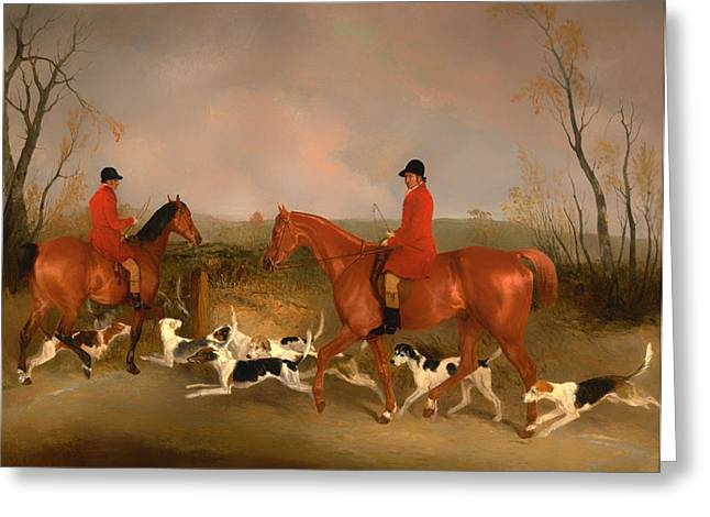Huntsmen To The Quorn  Greeting Card by Mountain Dreams