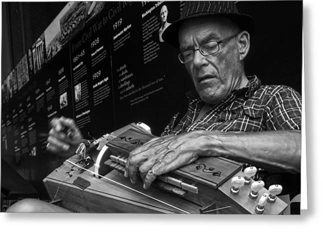Hurdy-gurdy Greeting Cards - Hurdy Gurdy Man Greeting Card by Susan D Phillips
