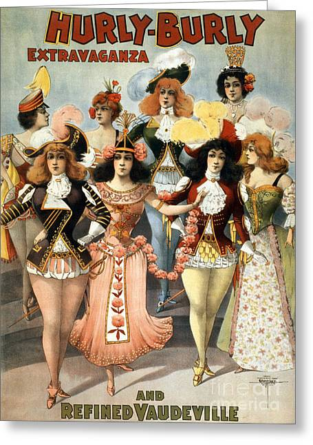 Dancer Art Greeting Cards - Hurly-burly Extravaganza Greeting Card by Photo Researchers