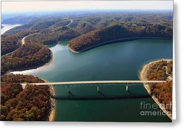 The Nature Center Greeting Cards - Hurricane Bridge 2 Greeting Card by Louis Colombarini