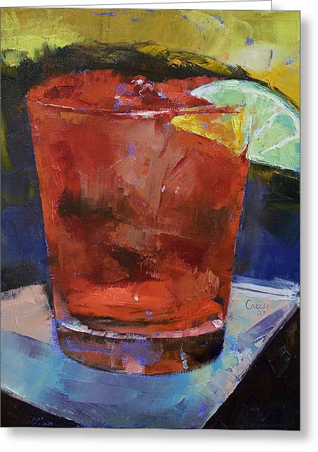 Cocktails Greeting Cards - Hurricane Cocktail Greeting Card by Michael Creese