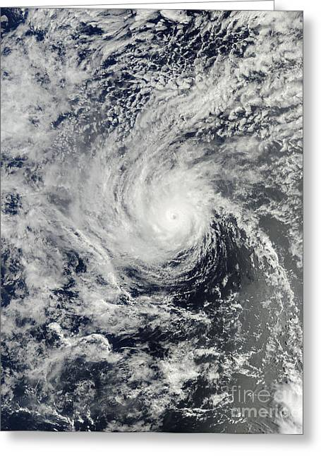 Henriette Greeting Cards - Hurricane Henriette Near Hawaii Greeting Card by Stocktrek Images