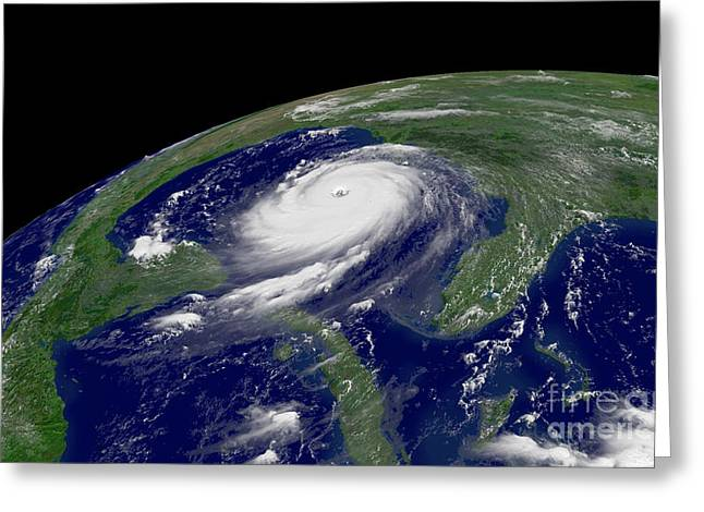 Hurricane Katrina Greeting Card by Jon Neidert