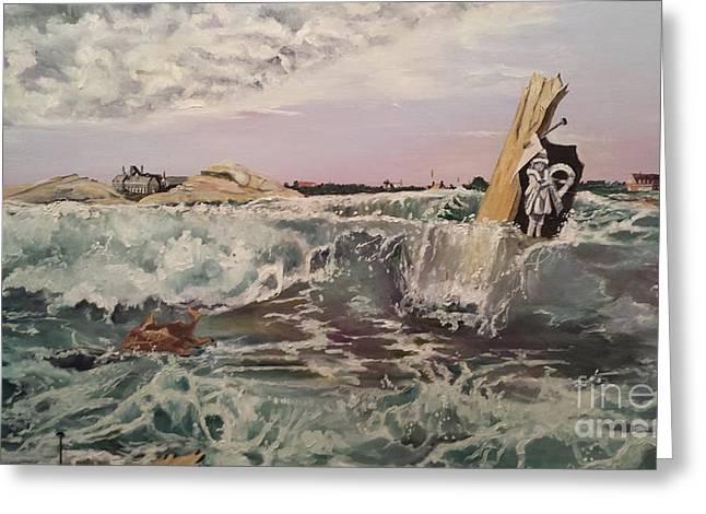 Hope Diamond Greeting Cards - Hurricane of 38 Newport Greeting Card by Rosemary Kavanagh