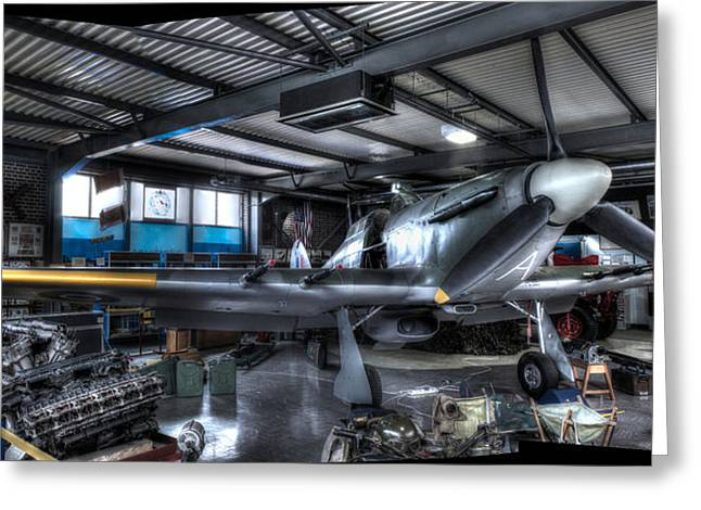 Fighters Greeting Cards - Hurricane plane Greeting Card by Ian Hufton