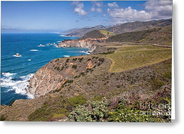 Pfeiffer Beach Greeting Cards - Hurricane Point Vista Greeting Card by Stuart Gordon
