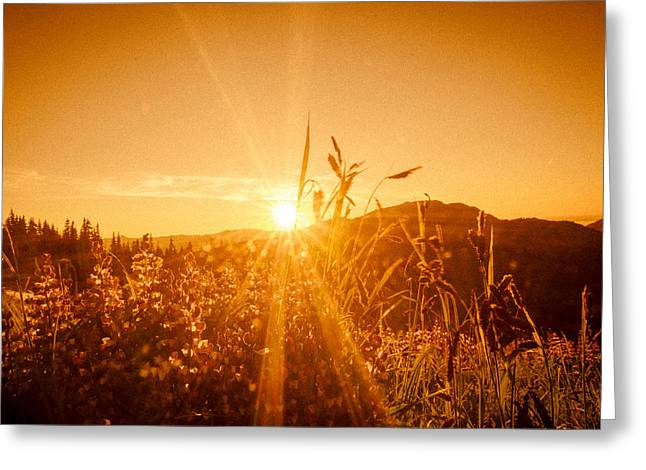 """sunset Photography"" Greeting Cards - Hurricane Ridge Sunset Greeting Card by Puget  Exposure"