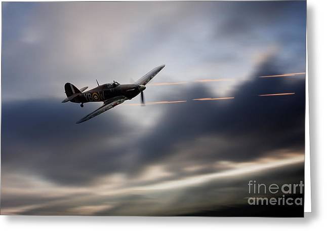Military Airplanes Greeting Cards - Hurricane Sting  Greeting Card by J Biggadike
