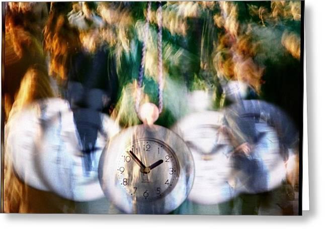 Pendulum Greeting Cards - Hurry hurry Greeting Card by Gun Legler