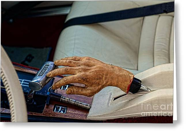 Handbrake Greeting Cards - Hurst Shifter and Hand Brake Greeting Card by Paul Ward