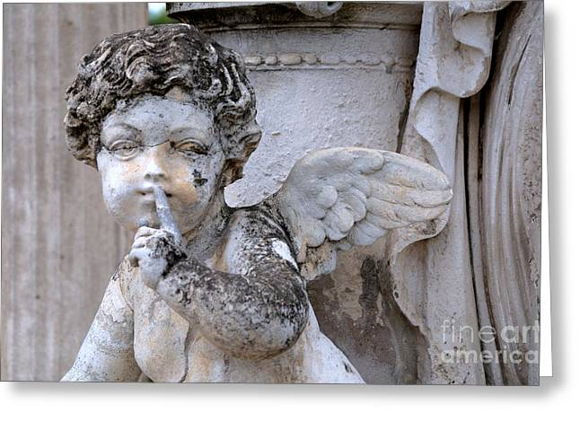 Shushing Greeting Cards - Hush Little Angel Greeting Card by Patrice Dwyer