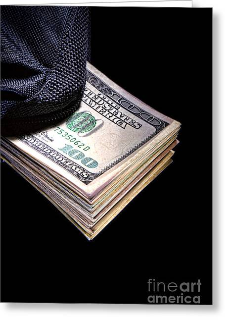 Bribery Greeting Cards - Hush Money Greeting Card by Olivier Le Queinec