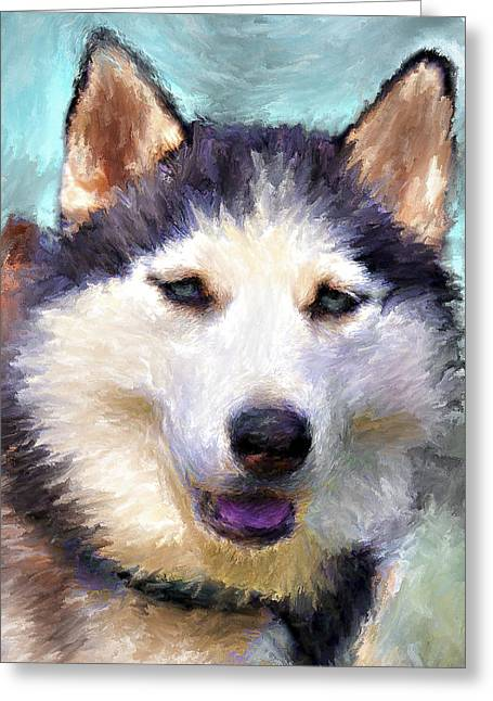 Husky Greeting Cards - Huskies Greeting Card by Yury Malkov