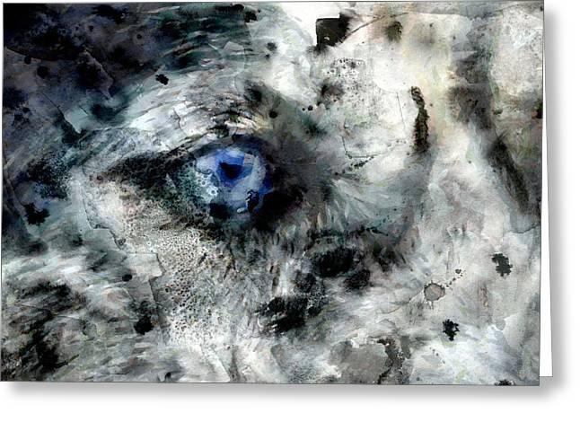 Husky Greeting Cards - Husky blue Eyes Greeting Card by Georgi Dimitrov