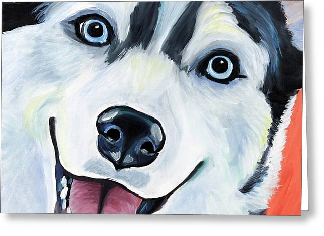 Husky Greeting Cards - Husky Greeting Card by Melissa Smith