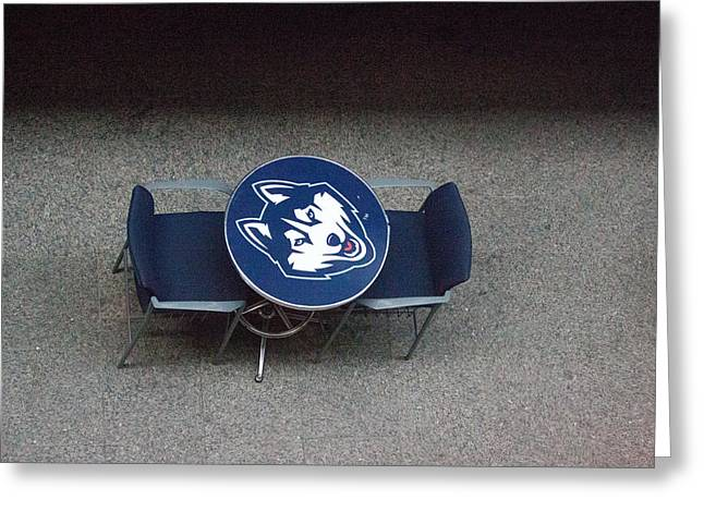Uconn Greeting Cards - Husky Table Greeting Card by Michael Garcia