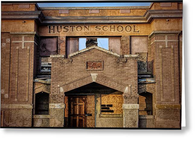 Huston Greeting Cards - Huston school front  Greeting Card by Brian Byers