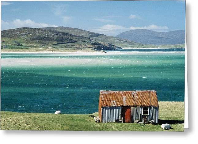 Western Isles Greeting Cards - Hut On West Coast Of Isle Greeting Card by Rob Penn