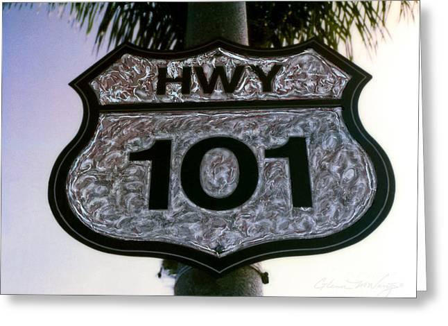 Coast Hwy Ca Greeting Cards - Hwy 101 Greeting Card by Glenn McNary