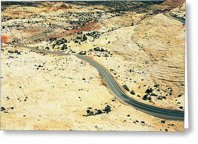 Roadway Greeting Cards - Hwy 12 Near Escalante Ut Usa Greeting Card by Panoramic Images