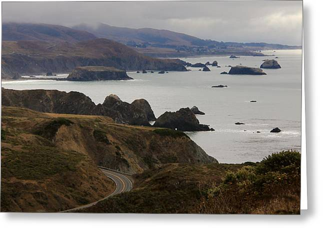 Coast Highway One Greeting Cards - HWY one coastline Greeting Card by Kevin Doty