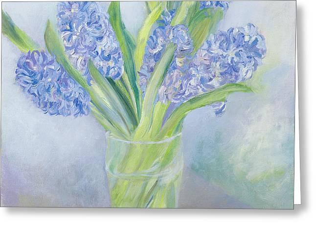Hyacinths Greeting Card by Sophia Elliot