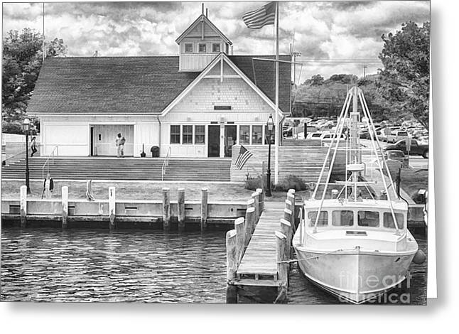 Hyannis Coastguard Bw01 Greeting Card by Jack Torcello