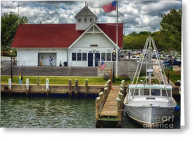 Hyannis Coastguard Hdr01 Greeting Card by Jack Torcello