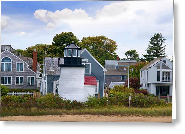 Hall Vineyards Greeting Cards - Hyannis light in a naughty world Greeting Card by Brenda Kean