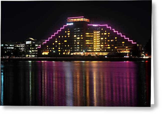 Hyatt Hotel Greeting Cards - Hyatt Reflection Charles River Greeting Card by Toby McGuire
