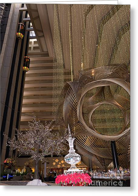 Hyatt Regency Hotel Embarcadero San Francisco California Dsc1975 Greeting Card by Wingsdomain Art and Photography