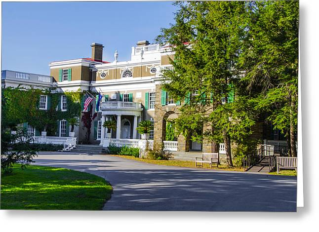 Franklin Roosevelt Digital Art Greeting Cards - Hyde Park on the Hudson Greeting Card by Bill Cannon