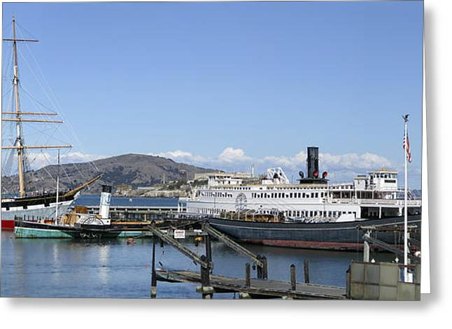 Recently Sold -  - Historic Schooner Greeting Cards - Hyde Street Pier - San Francisco Greeting Card by Daniel Hagerman