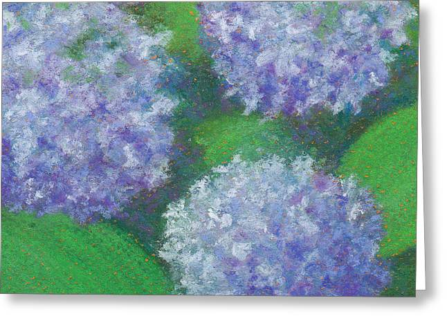 Close Up Floral Pastels Greeting Cards - Hydrangea Greeting Card by Anne Katzeff