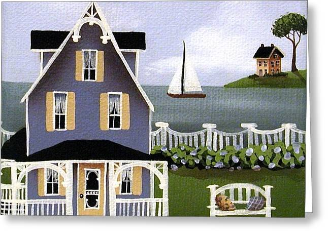 Catherine Holman Greeting Cards - Hydrangea Cove Greeting Card by Catherine Holman