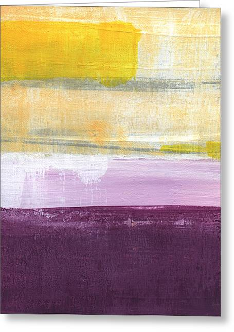 Purple Greeting Cards - Hydrangea Two - abstract painting Greeting Card by Linda Woods