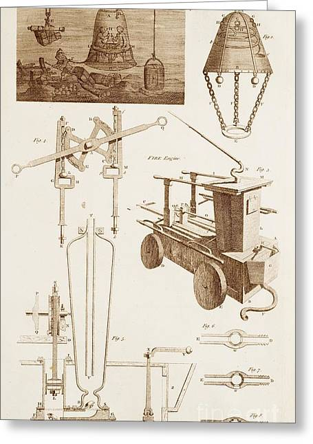 Diving Bell Greeting Cards - Hydraulics And Hydrostatics Greeting Card by David Parker