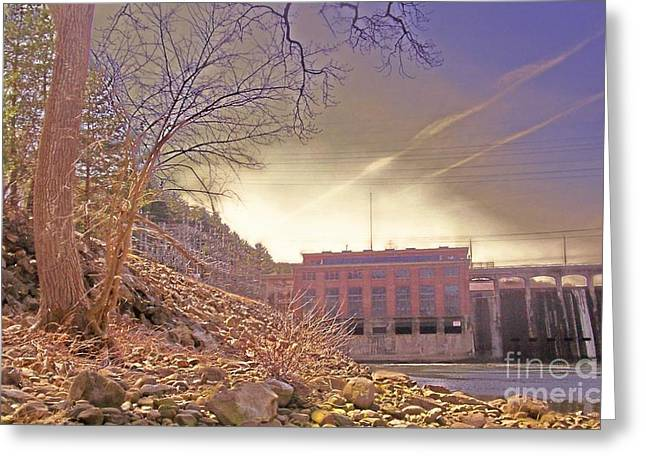 Hydroelectric Greeting Cards - Hydro Electric Dam  n Greeting Card by Kristine Nora