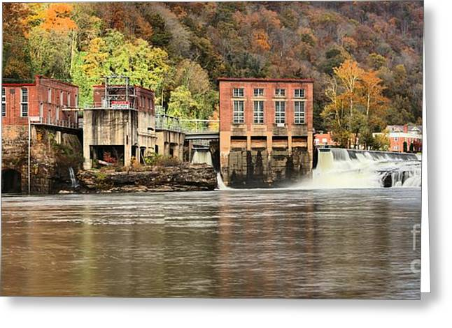 Hydroelectric Greeting Cards - Glen Ferris Hydroelectric Plant Greeting Card by Adam Jewell