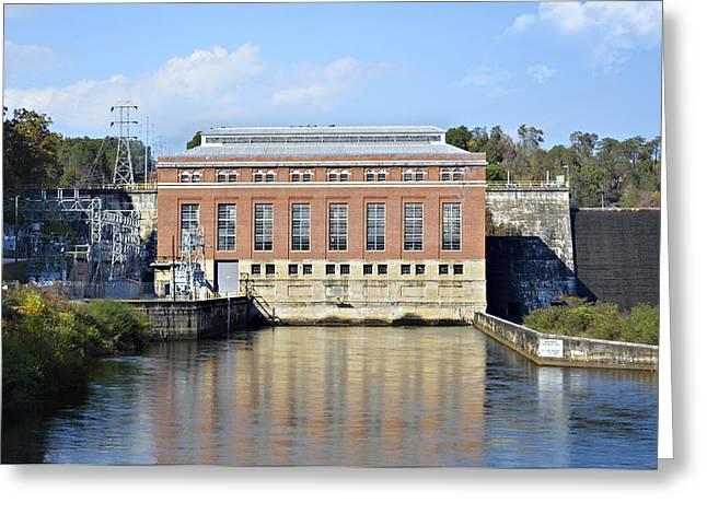 Hydroelectric Power Greeting Card by Susan Leggett