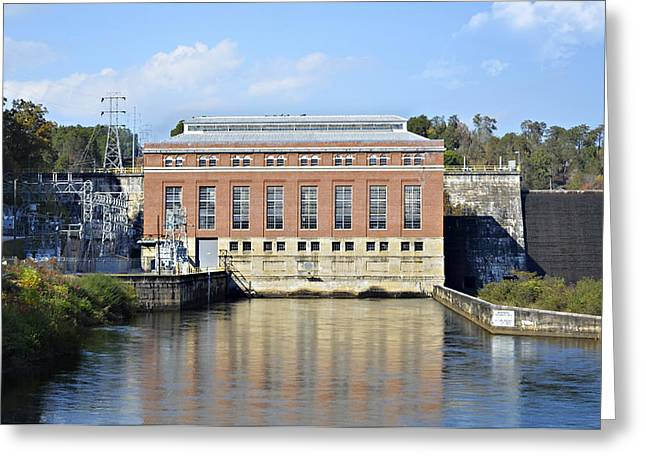 Hydroelectric Power Greeting Card by Susan Leggett