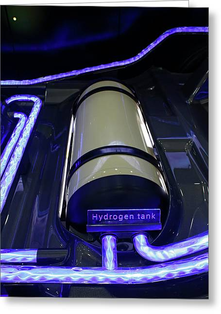 Hydrogen Fuel Cell Concept Car Greeting Card by Jim West