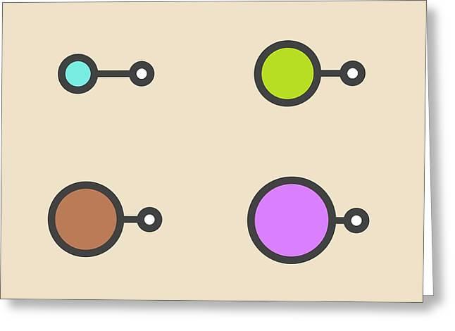 Hydrogen Halides Molecule Greeting Card by Molekuul