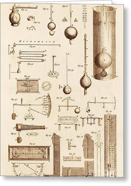 Calculation Greeting Cards - Hydrometers And Hygrometers Greeting Card by David Parker