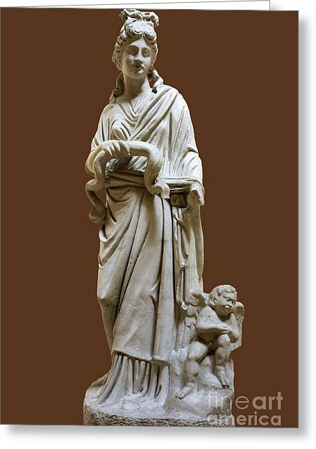 Greek Sculpture Greeting Cards - Hygeia, Goddess Of Good Health Greeting Card by Sheila Terry