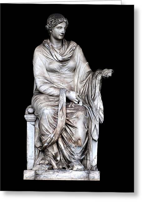 Greek Sculpture Greeting Cards - Hygieia Greeting Card by Fabrizio Troiani