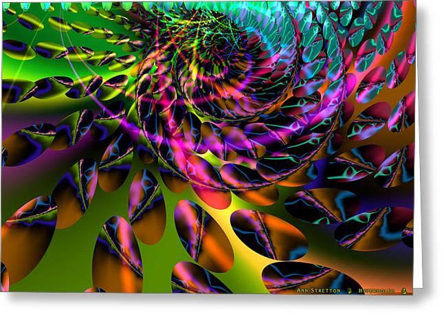 Surreal Geometric Greeting Cards - Hyperholes Greeting Card by Ann Stretton